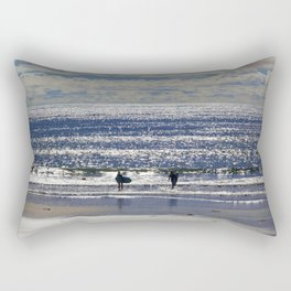 Blue Wave Surfer Girls Rectangular Pillow