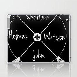 Holmes'Watson(white) Laptop & iPad Skin