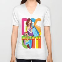 discount V-neck T-shirts featuring Creative Title : DISCOUNT by Don Kuing