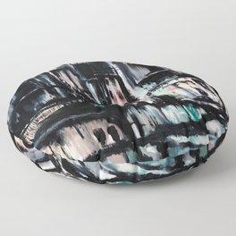 City Scape at Dusk Floor Pillow