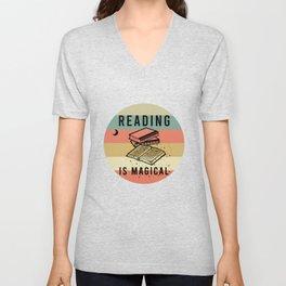Reading is magical Unisex V-Neck