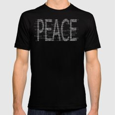 Peace is Always Beautiful Black Mens Fitted Tee SMALL