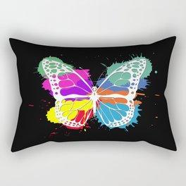 Grunge butterfly Rectangular Pillow