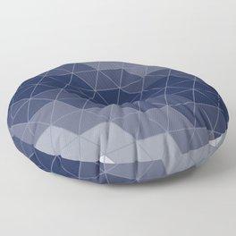Navy Blue Triangles Floor Pillow