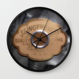 Slingerland Vintage Drum Badge Wall Clock