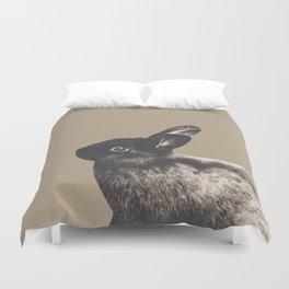 Little Rabbit on Sepia #1 #decor #art #society6 Duvet Cover