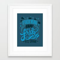 friday Framed Art Prints featuring Friday by Aimee Brodbeck
