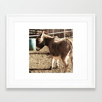 eeyore Framed Art Prints featuring Eeyore by Amber Heagerty