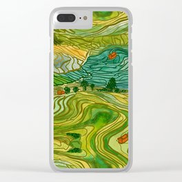 Terraced Rice Paddy Fields Clear iPhone Case