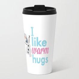 i like warm hugs smiling olaf.. frozen Travel Mug