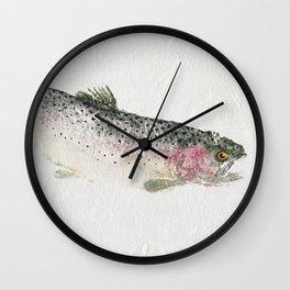 Rainbow Trout Dive - Gyotaku Wall Clock