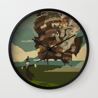castle Wall Clocks featuring Moving Castle by Danny Haas