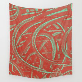 Junction - Red and Green Wall Tapestry