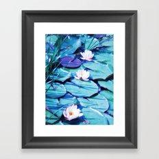 LILY POND Framed Art Print