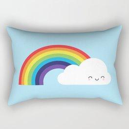 Kawaii Rainbow Rectangular Pillow
