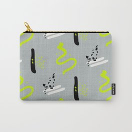 yellow hipster print Carry-All Pouch