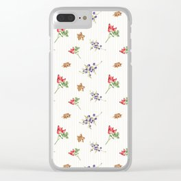 Elegant Christmas - floral spice Clear iPhone Case