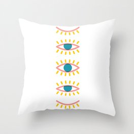 Sleepy Eyes Throw Pillow