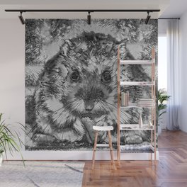AnimalArtBW_Hamster_20170901_by_JAMColorsSpecial Wall Mural