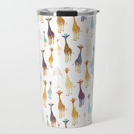 Giraffe of a different Color: white background Travel Mug