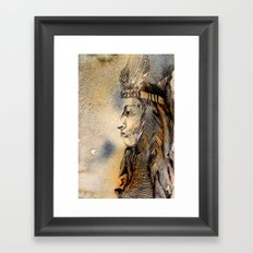 Red Indian Framed Art Print