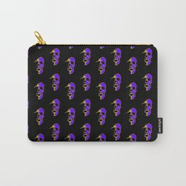 Skull - Purple Carry-All Pouch