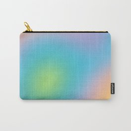 Pastel Rainbow Ombre Blur Design Carry-All Pouch