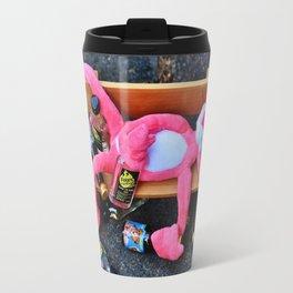 Drunk Pink Panther Travel Mug
