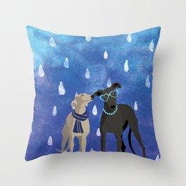 Sighthounds Watercolour Throw Pillow