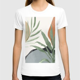 Abstract Art Tropical Leaves 10 T-shirt