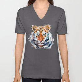 Tiger Head watercolor Unisex V-Neck