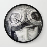 aviation Wall Clocks featuring Aviation Dreams by Arden Jenner