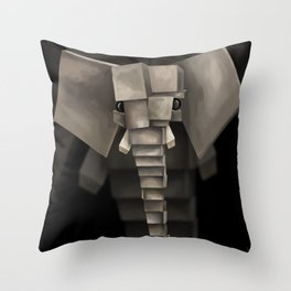Elephant² Throw Pillow