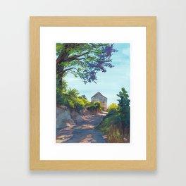 Beachhouse Path Framed Art Print