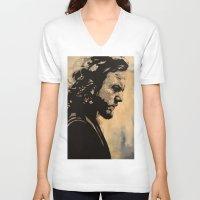eddie vedder V-neck T-shirts featuring Eddie  by lyneth Morgan