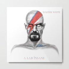 Walter White - A Lab Insane Metal Print