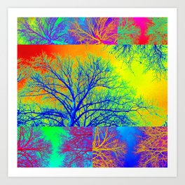 Rainbow Trees Art Print