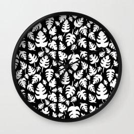 Monstera imprint Wall Clock