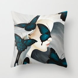 Butterfly Wishes Throw Pillow