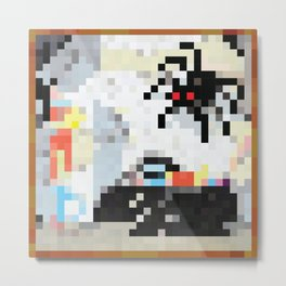The Stage is Set Painting Pixel Art Metal Print