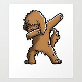 Funny Goldendoodle Dabbing Art Print