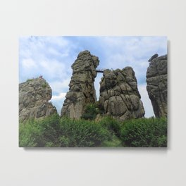 The Externsteine, Teutoburg Forest Metal Print