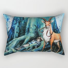 """At the tree's feet"" Rectangular Pillow"