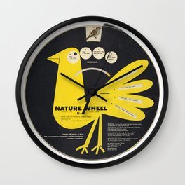 Junior Ornithology Wheel Wall Clock