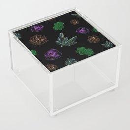 Crystals on Scratchboard Acrylic Box