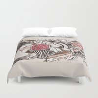 pomegranate Duvet Covers featuring pomegranate  by nene