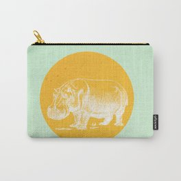 Blossom me Hippo Carry-All Pouch