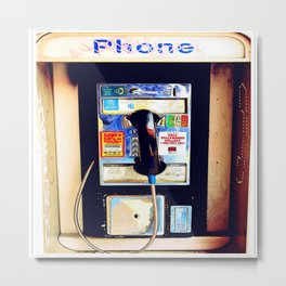 Payphone Metal Print