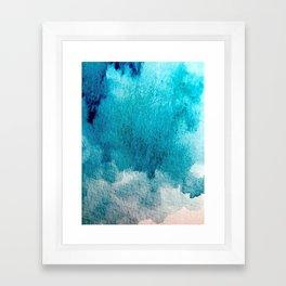 Rest: a minimal, blue abstract piece Framed Art Print