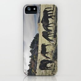 Free horses at the mountains iPhone Case